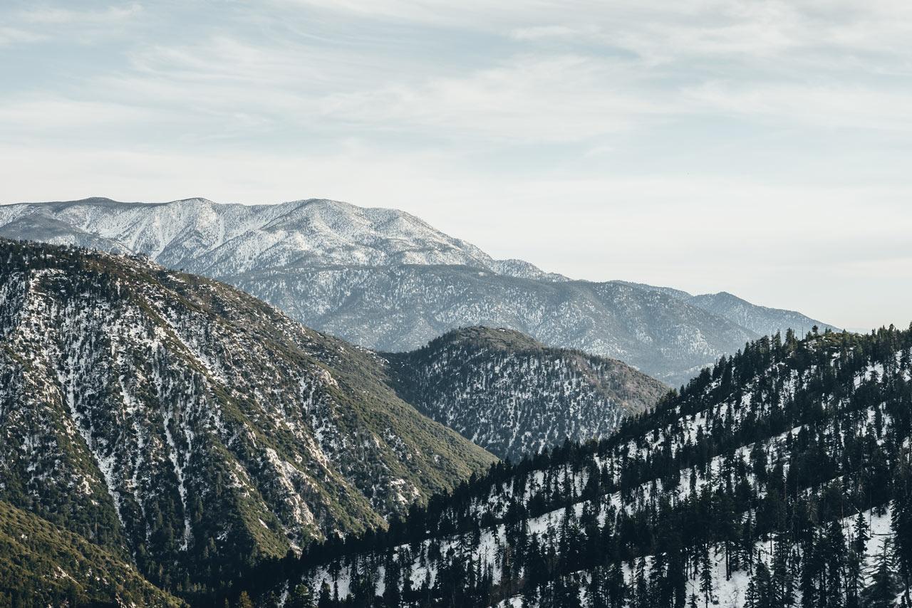 Wintertime mountain view new Big Bear lake