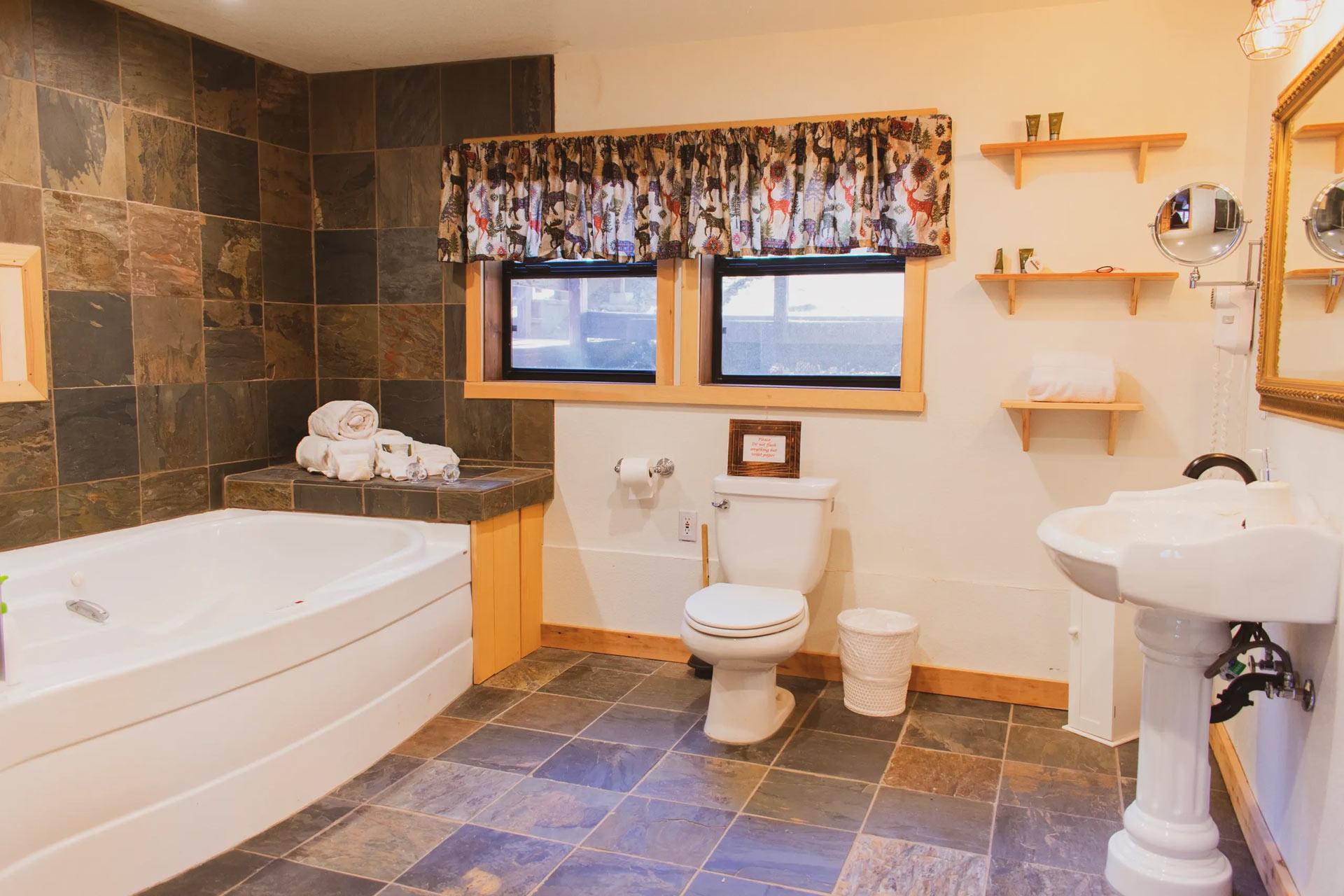 Carriage house master bathroom