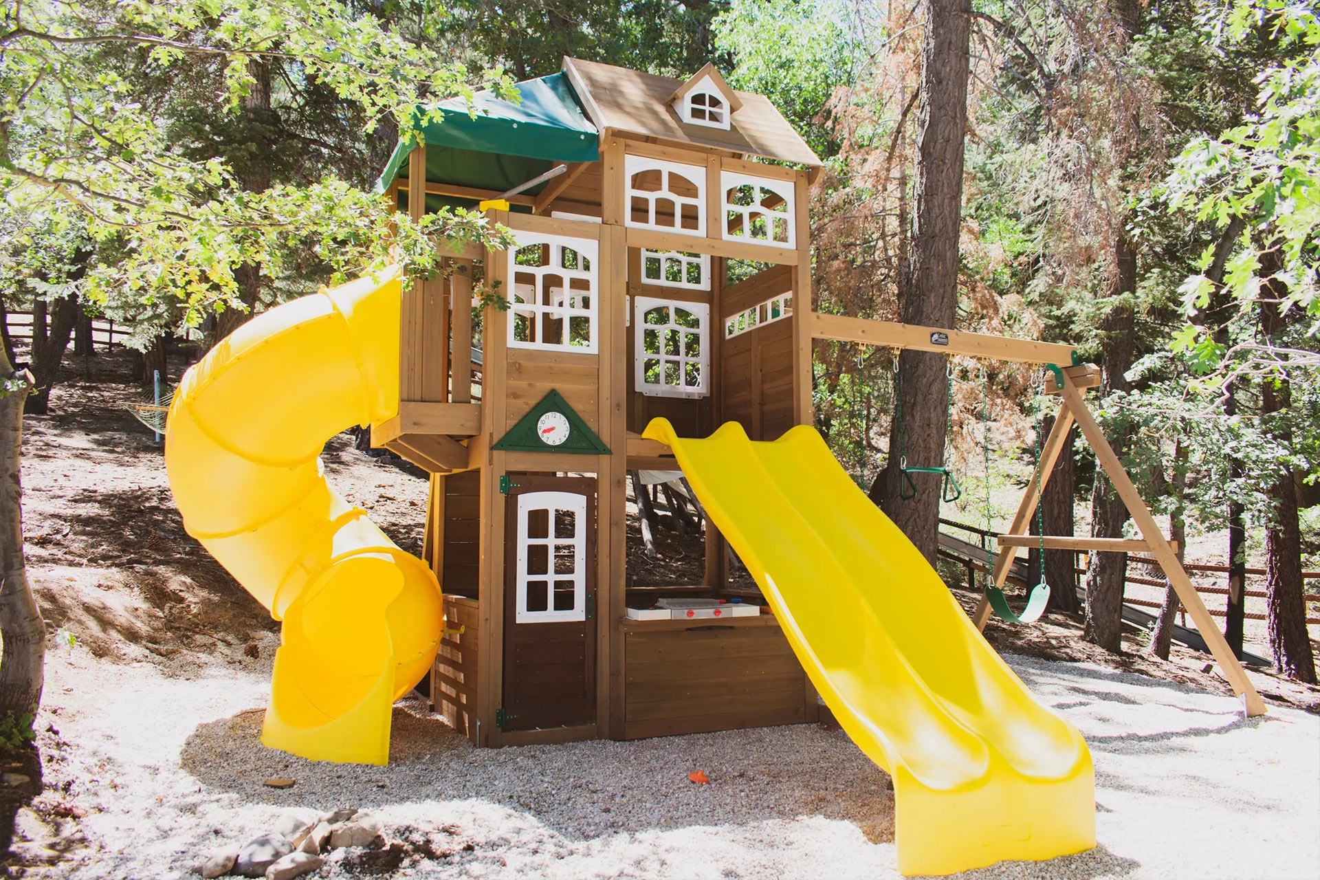 A playhouse for the kids to play on