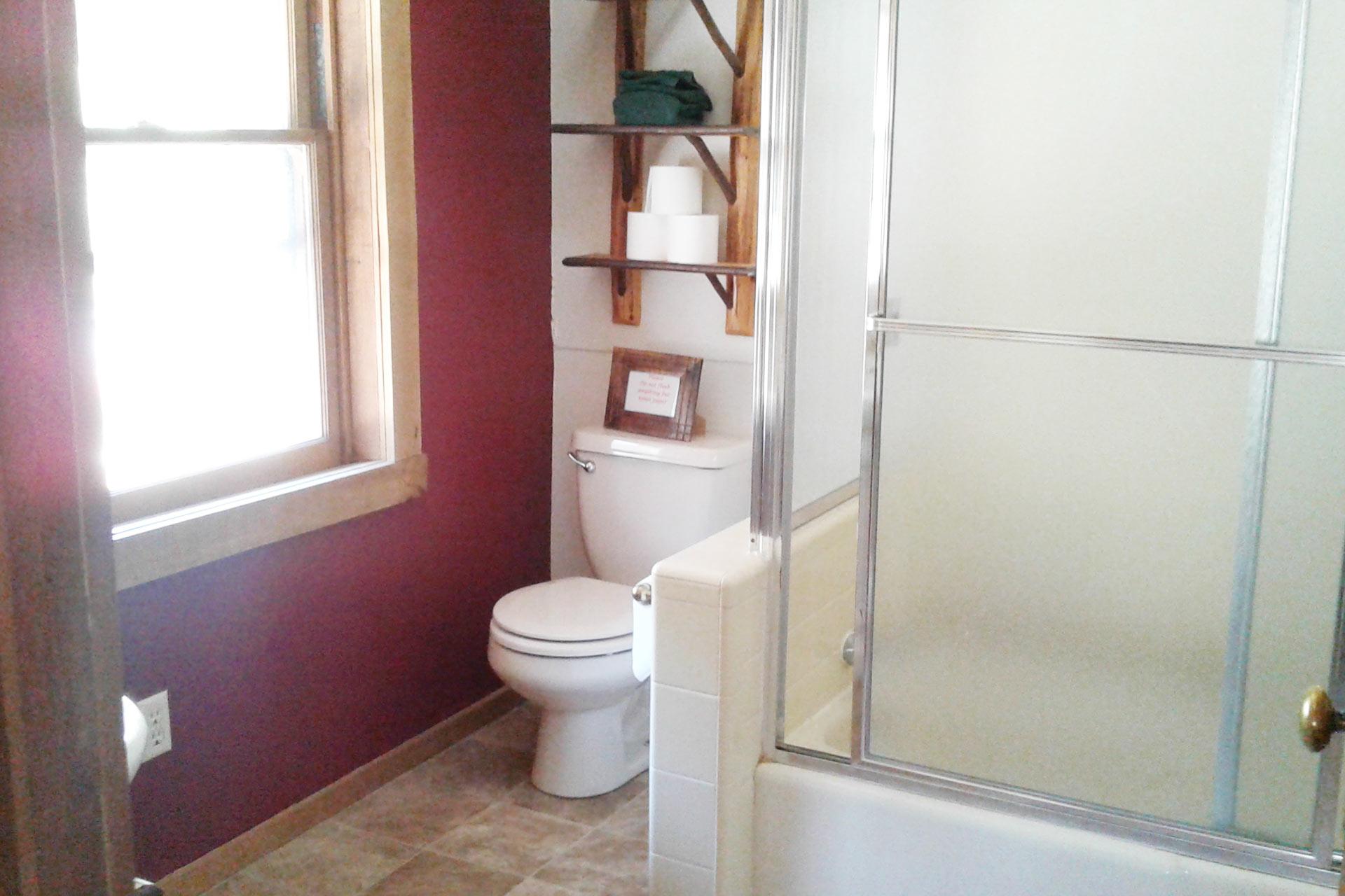 Master bathroom in the knickerbocker mansion