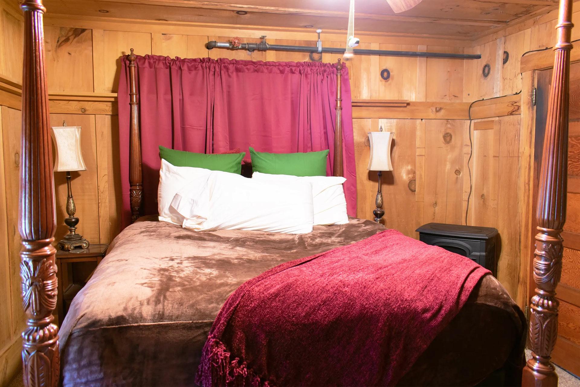 Master bedroom in the knickerbocker mansion