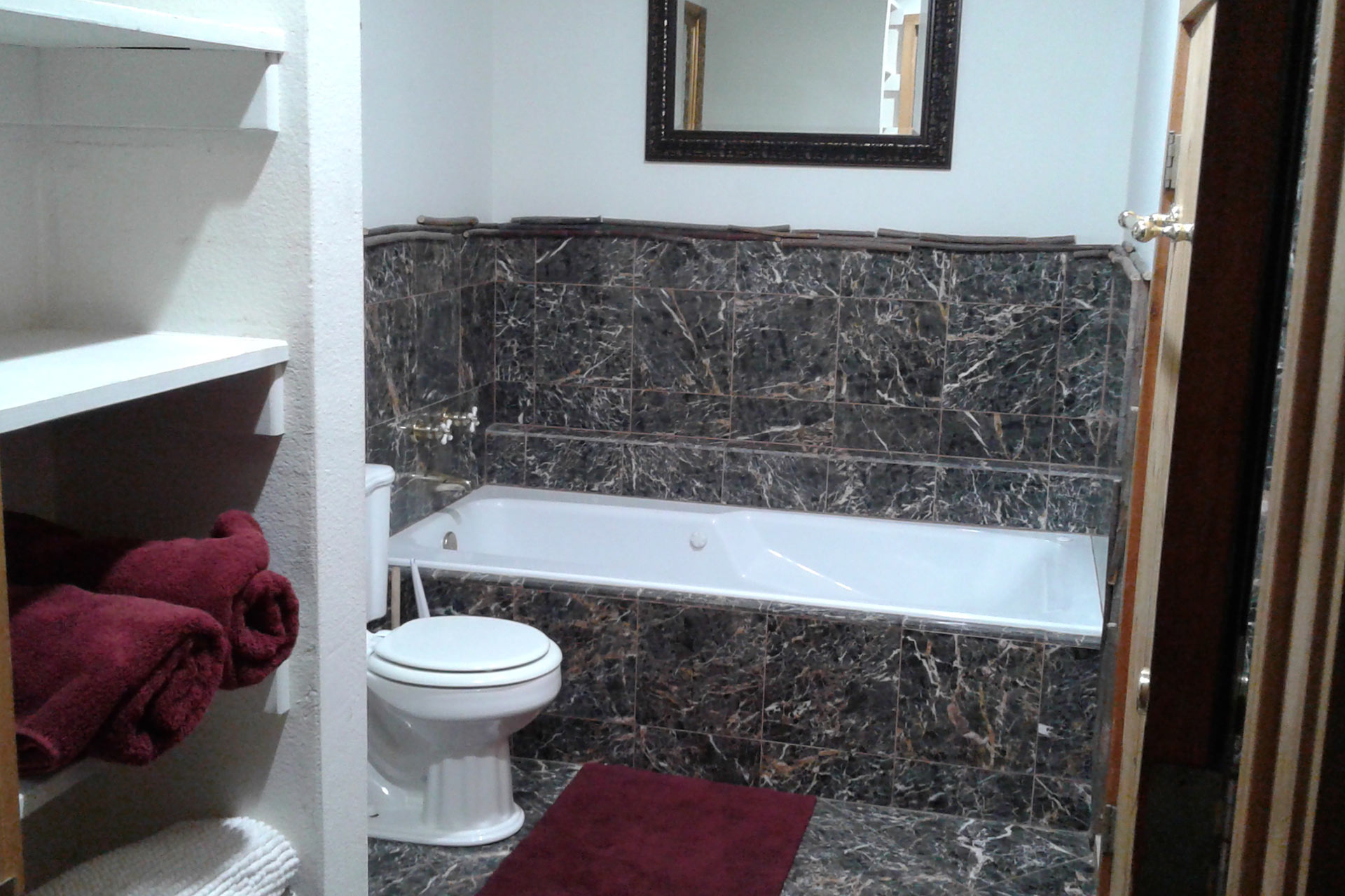 Master bedroom suite bathroom at the residence